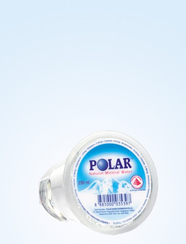 Polar Natural Mineral Water Cups 230ml